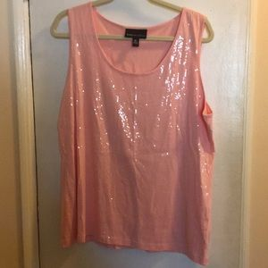 Sequined Tank 1X